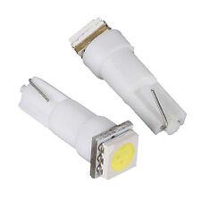 10X coche T5 5050 bombillas de LED SMD 1 Dashboard Blanco lampara de luz 12V P7