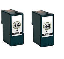 2 Cartuchos tinta compatible para Lexmark 34 18c0034 18c0034e
