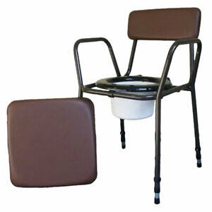 Aidapt Essex Brown Height Adjustable Commode Chair - VR161