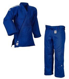 """adidas Judoanzug """"CHAMPION II"""" IJF, blau/weiße Streifen, JIJFB - Judo-Anzug"""