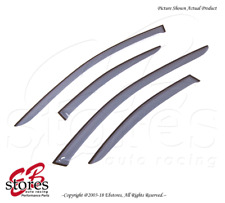 For Volvo S60 2001-2011 Tape On Ash Grey JDM Window Visors Deflector 4pcs