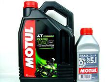 ACEITE PARA MOTOS 10w40 Motul 5100 4-takt 4 litros + Líquido de los frenos DOT