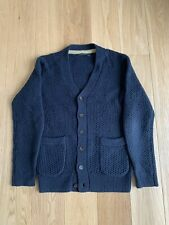 Mens Navy Blue French Connection Knitted Cardigan. Size: S