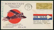 Mayfairstamps US EVENT 1933 COVER NEW YORK SCHENECTADY AIRPORT DEDICATION wwh226