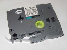 CASSETTA NASTRO 12mm nero VHBW per Brother P-Touch TZ-131, TZE-131