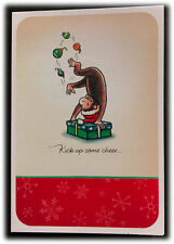 Vintage Sunrise Curious George Kick Up Some Cheer Christmas Is Here Card