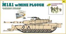 Cyber Hobby 1:35 9141: Réservoir M1A1 avec Charrue de mine + 4 Figurines