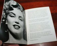 Philippe Halsman 1979 Exhibition booklet- Marilyn Monroe, Einstein, Dali