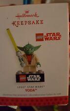 2013 Hallmark Lego Star Wars Yoda Christmas Ornament NIB NEW IN BOX