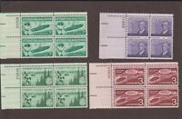 US,1091,1104,1105,1106,PLATE BLOCKS,MNH VF,1950'S COLLECTION MINT NH,OG