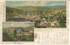 Klingenthal, Zwota, Panorama, alte Litho--Ansichtskarte von 1901