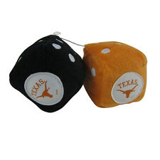 New NCAA Texas Longhorns Rear View Mirror Soft Plush Fuzzy Hanging Dice