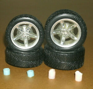 1/18 Scale Goodyear Eagle Tires on Chevy SSR Rims (Diorama Wheels) Car Parts