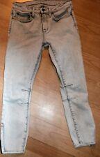 HELMUT LANG  blue gray skinny leg stretch zip ankle jeans 27