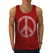 Peace Hipster Vintage Men Tank Top NEW | Wellcoda