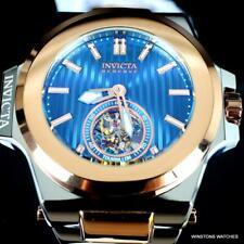 Invicta Reserve Akula Prestige Tourbillon 58mm Rose Gold Steel Blue Watch New