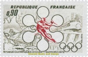 EBS France 1972 Winter Olympic Games, Sapporo Japan YT 1705 MNH**