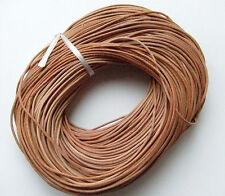 2mt di cordino  filo in Pelle cuoio 2mm colore perù per bracciale,collana