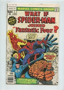 What If? #1 (1977) Spiderman Joined Fantastic Four High Grade VF/NM 9.0
