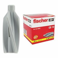 1 Paket ( 20 Stück ) Fischer Gasbeton  Dübel GB 10  Nr. 50492 Gasbetondübel