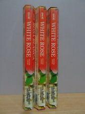 White Rose Incense 3 Packs x 20 Sticks Hem Hex Free Post AU