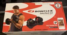 Bowflex SelectTech 552 Adjustable Pair Dumbbell Weights Weightlifting (100748)