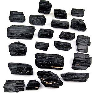große Turmalin - Kristalle schwarz Ø je 35 - 100 mm Brasilien Schörl AA-Qualität