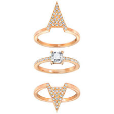 Swarovski 5241272 Rose Gold Tone Funk Ring Set Size 55 (US 7)