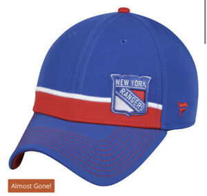 New York Rangers Fanatics Branded Iconic Streak Speed Stretch Fitted Hat blue