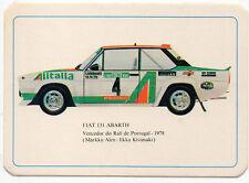1985 Portugese Pocket Calendar Featuring Fiat 131 Abarth Rally Car