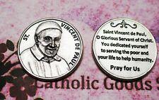 Saint St. Vicent de Paul - Prayer to St Vincent de Paul   - Pocket Token Coin