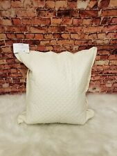 "Ralph Lauren Wyatt Quilted Sateen 20"" Square Decorative Pillow Hollywood"