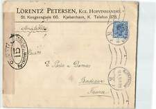 DENMARK 1916 20 ore ON MILITARY CENSORED COVER TO FRANCE