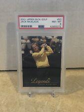 2001 Upper Deck Golf #53 ~ Jack Nicklaus ~ PSA 8 NM-MT