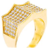 3.06ctw NATURAL ROUND DIAMOND 14K YELLOW GOLD WEDDING RING FOR MEN SIZE 9 TO 11