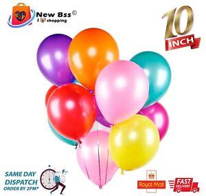 "10-100 10"" PLAIN PEARL Metallic BALLOONS BALLON helium BALOON Birthday Party"