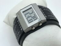 Nixon Women Watch Digital Black Leather Wide Band Wrist Watch