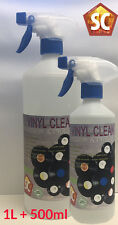 Vinyl Record Cleaning Fluid, Anti-static cleaner, 1L with FREE 500ml Refill