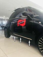 Fiat 500 500C 2009-2019 Chrome Side Door Streamer 2Pcs S.Steel
