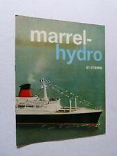 Catalogue équipement bateau :  MARREL  HYDRO / vers 1960