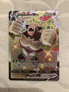 Pokemon Shining Fates Rillaboom VMAX Shiny Holo Art SV106/SV122 M-NM