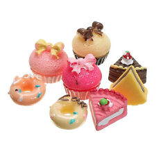 8Pcs Dollhouse Miniature Bakery Shop Kitchen Food Cake Donuts Cupcake DIY Decor