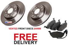 FOR SKODA OCTAVIA MK 2 1.4 1.6 1.9 2.0 TDi 04-11 FRONT 2 BRAKE DISCS & PADS SET
