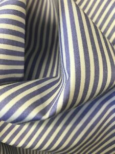 Purple & white stripe dress/craft cotton fabric (IDEAL FOR FACE MASKS)