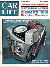 Car Life Magazine July 1963 Turbines For Today? EX 060916jhe