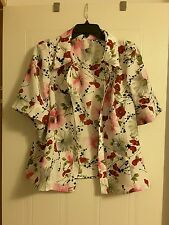 Women's handmade jacket with flowers on white background small