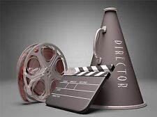PRINT POSTER PHOTO FILM DIRECTOR EQUIPMENT CLAPPERBOARD REEL MEGAPHONE LFMP0710