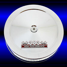 383 Emblem Air Cleaner Chrome Fits Small Block Chevy 383 Stroker Engines SBC