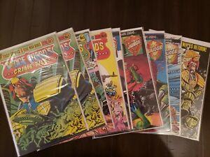 Judge Dredd 9 Book Lot; Crime File #1, 3, 4 & The Law Of Dredd #2, 5, 7, 8, 31