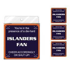 Tree-Free Greetings Nc38186 Islanders Hockey Fan 4-Pack Artful Coaster Set